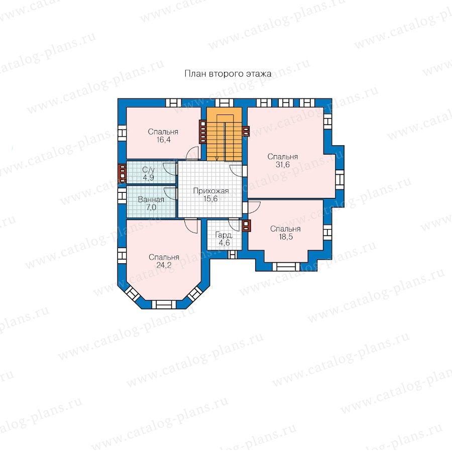 План 2-этажа проекта 48-29L