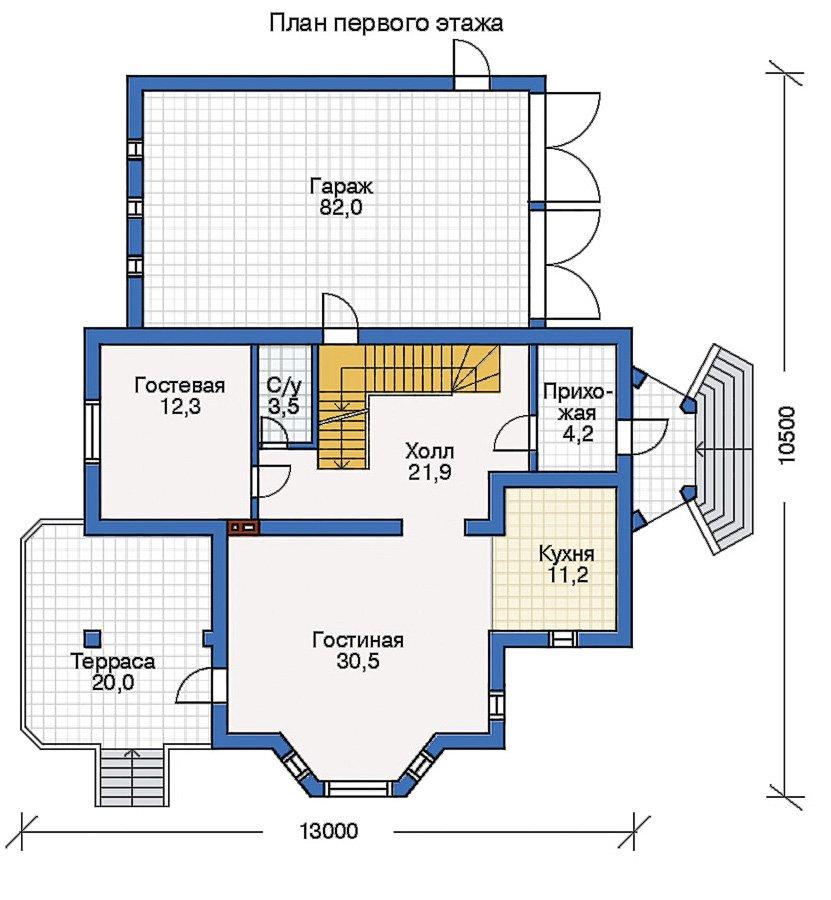 План 2-этажа проекта 50-62