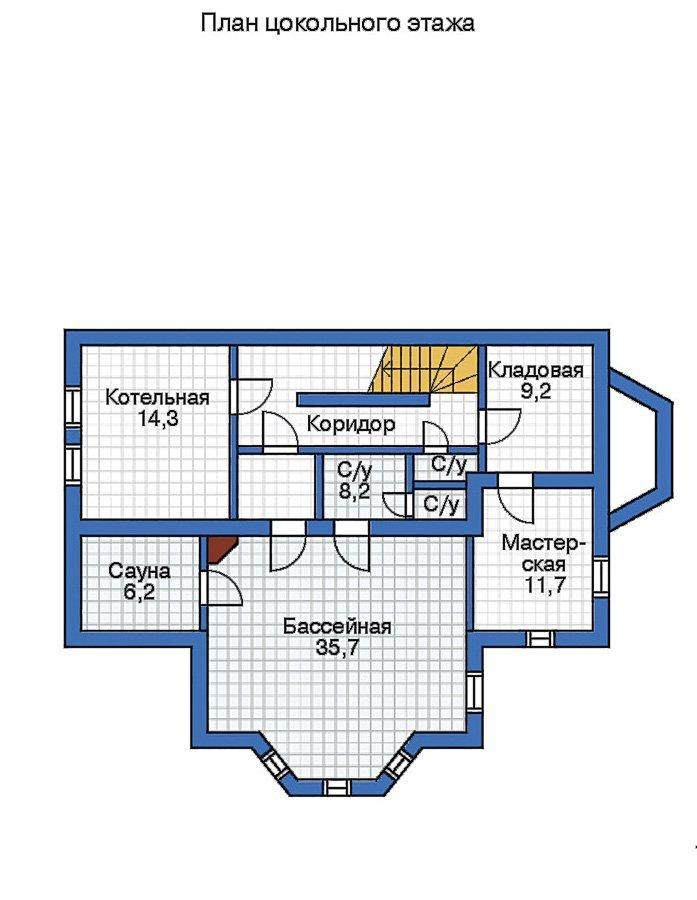 План 1-этажа проекта 50-62