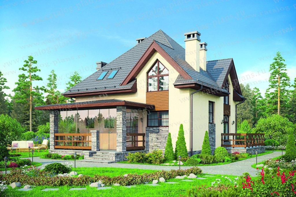 Проект жилой дом #57-51 материал - газобетон, стиль европейский