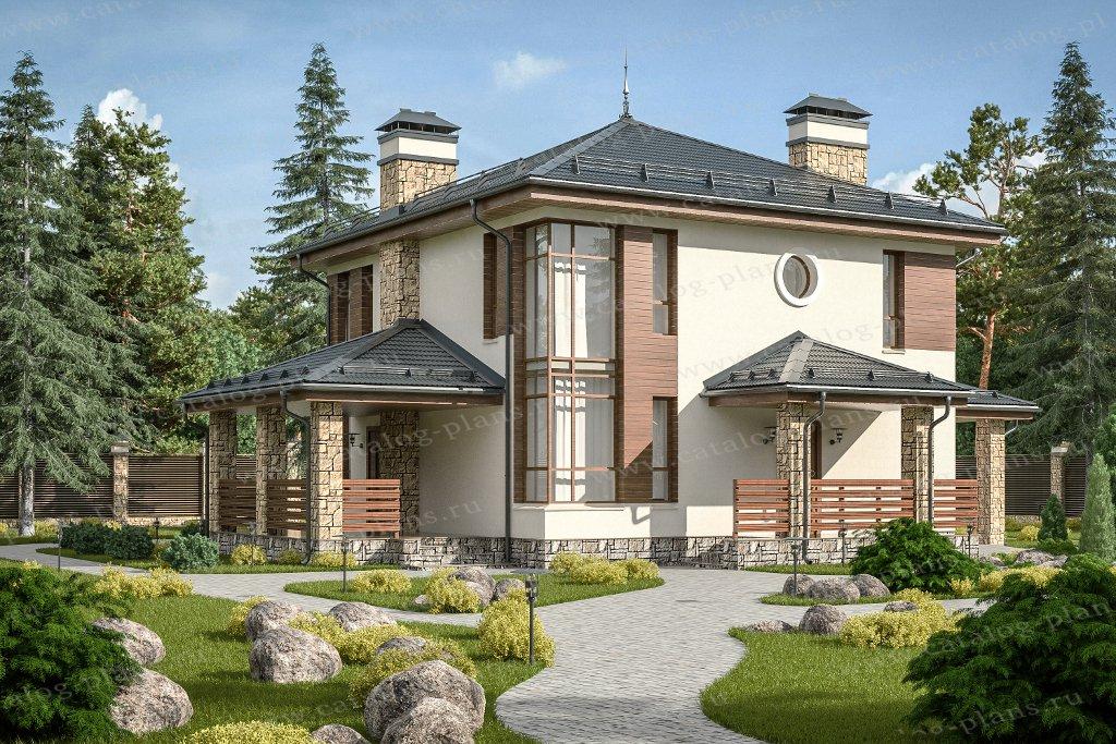 Проект жилой дом #59-79В материал - газобетон, стиль современный