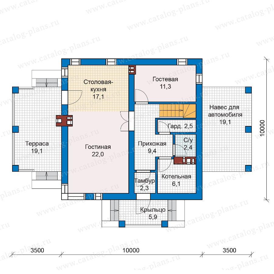 План 1-этажа проекта 59-79В