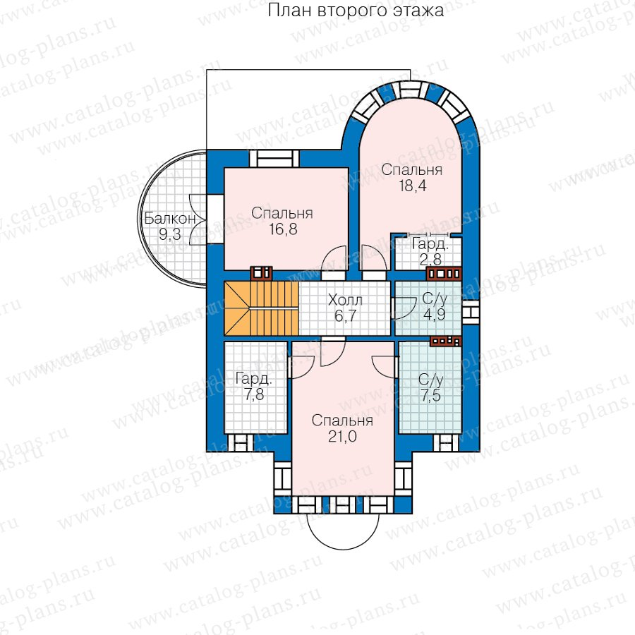План 3-этажа проекта 40-70CL