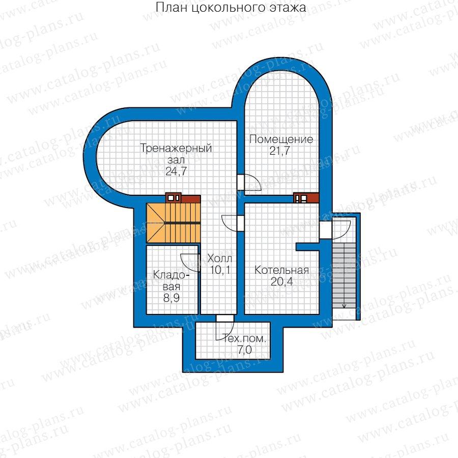 План 1-этажа проекта 40-70CL