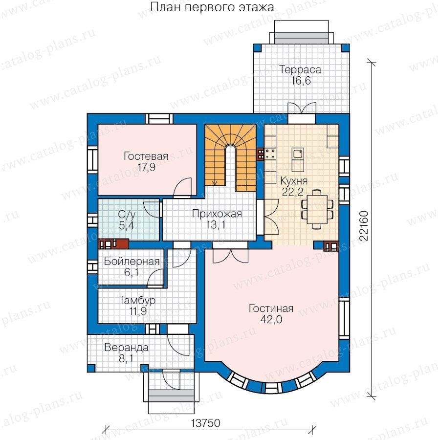 План 1-этажа проекта 57-60В