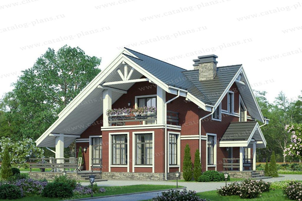 Проект жилой дом #58-22С материал - газобетон, стиль скандинавский