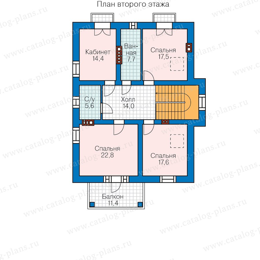 План 2-этажа проекта 58-22С