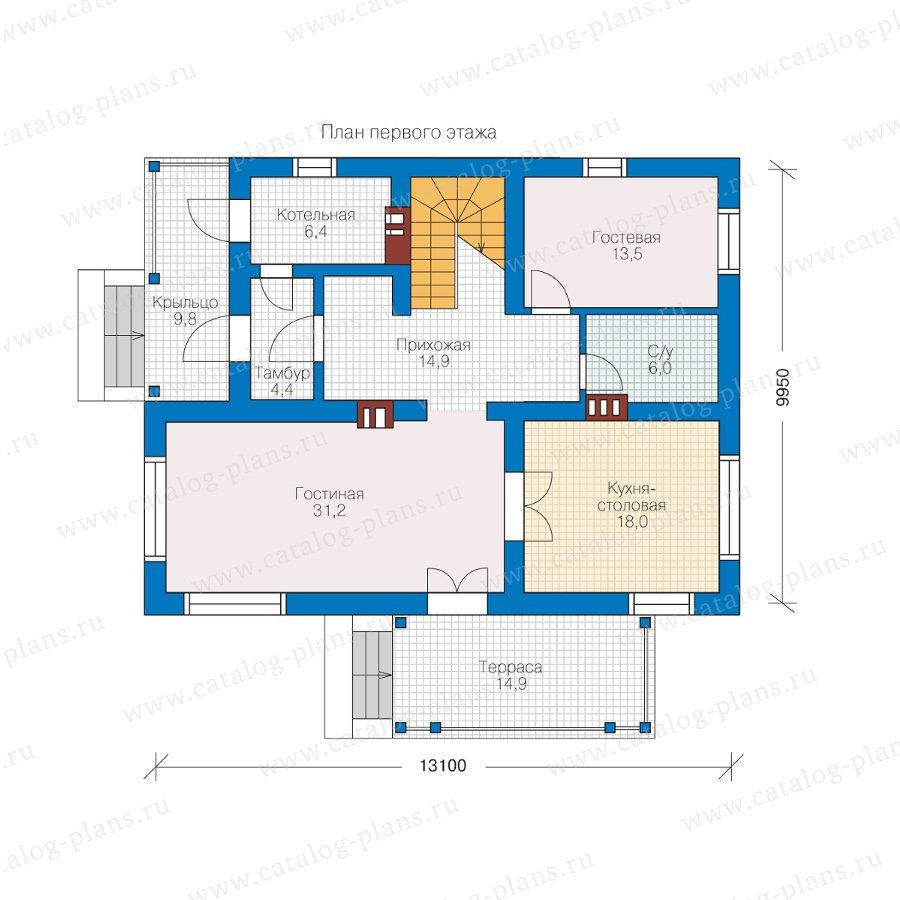 План 1-этажа проекта 57-03KL1