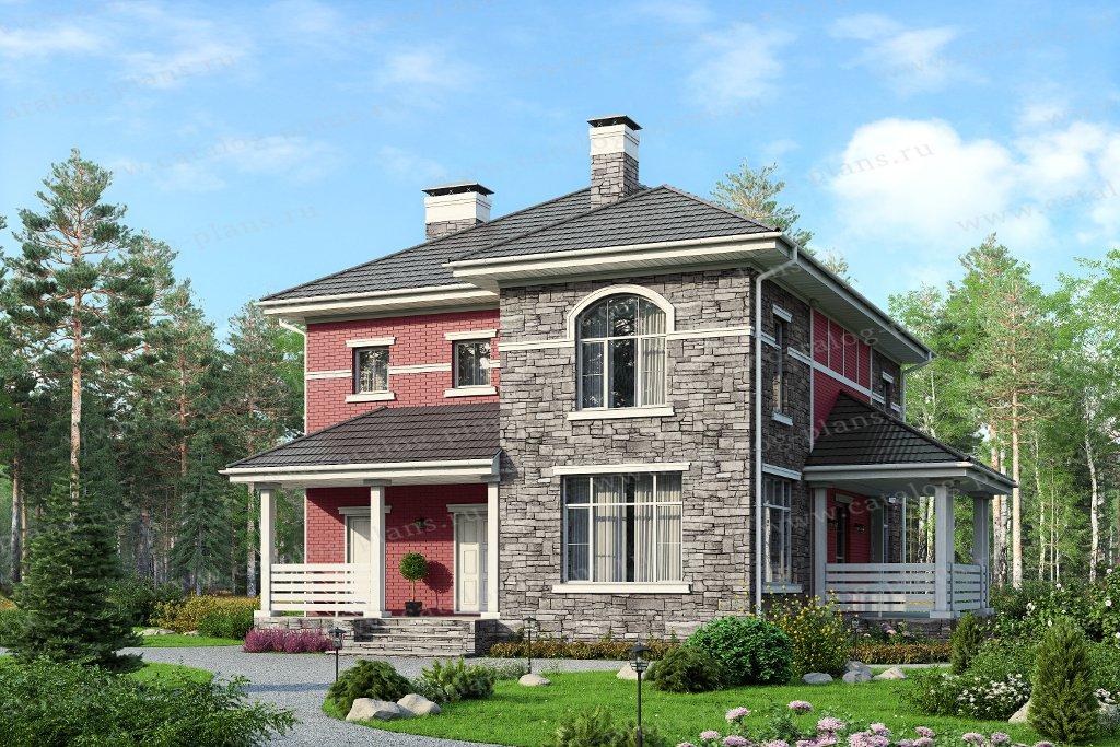 Проект жилой дом #57-03KL1 материал - кирпич, стиль прованс