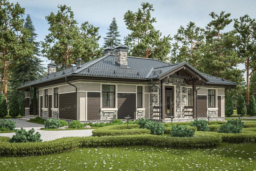 Проект жилой дом #58-90 материал - газобетон, стиль