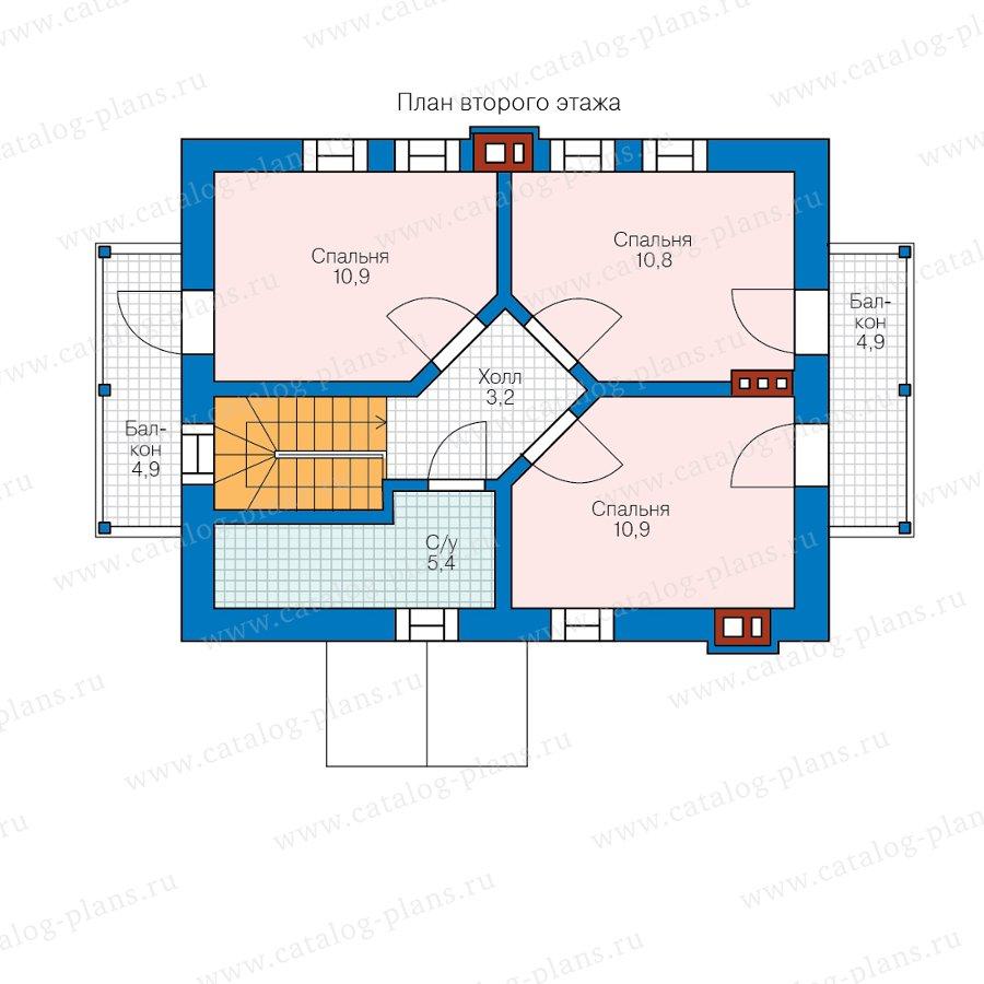План 2-этажа проекта 58-59А