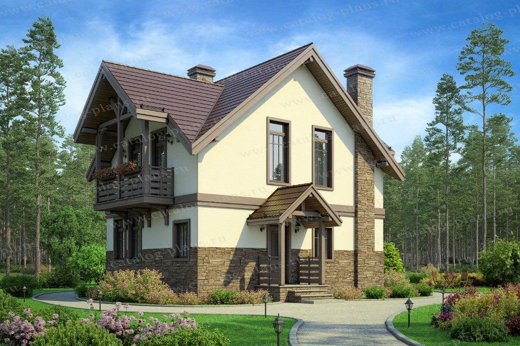 Проект жилой дом #58-59А материал - газобетон, стиль