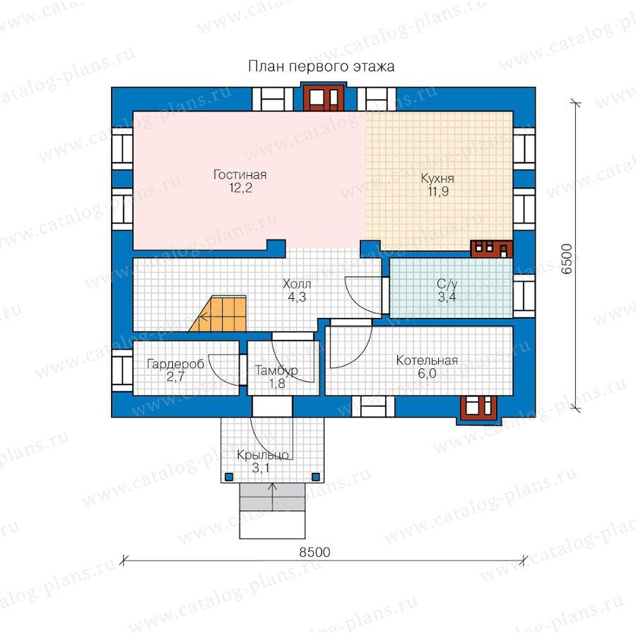 План 1-этажа проекта 58-59А