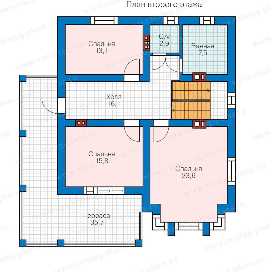 План 2-этажа проекта 58-92