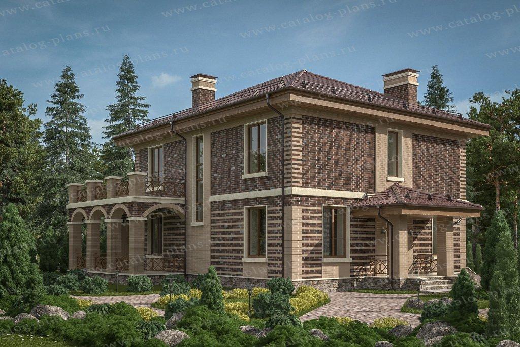 Проект жилой дом #57-62В материал - газобетон, стиль