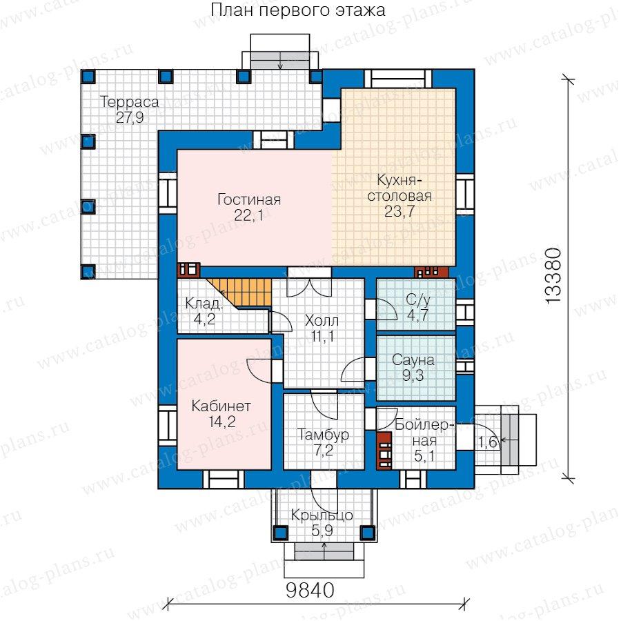 План 1-этажа проекта 57-62В