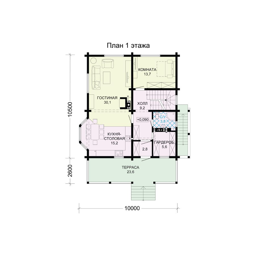 План 2-этажа проекта 13-71
