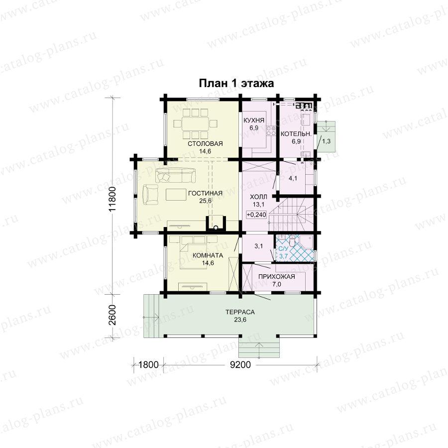 План 1-этажа проекта 13-73