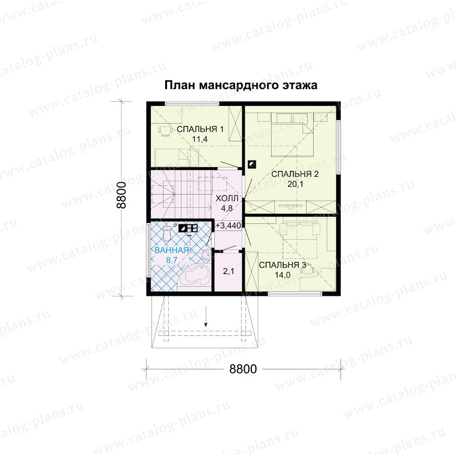 План 2-этажа проекта 13-72