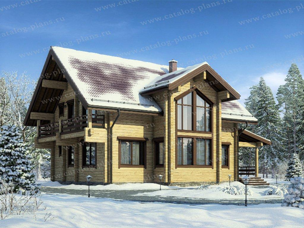 Проект жилой дом #13-73 материал - дерево, стиль
