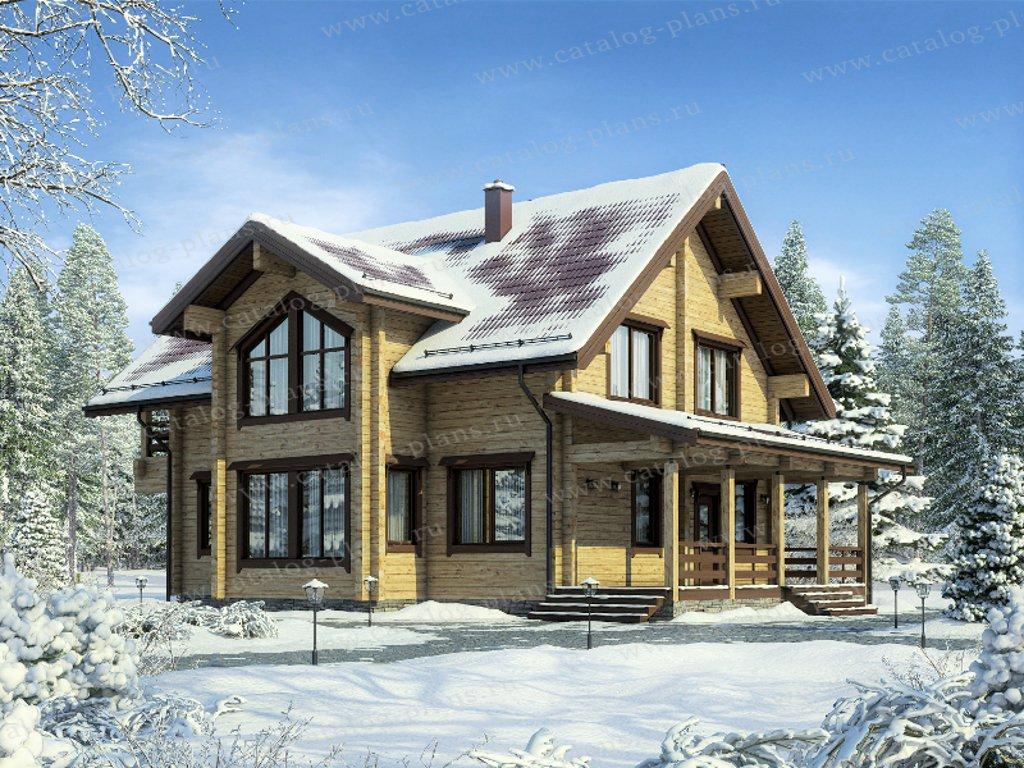Проект жилой дом #13-73А материал - дерево, стиль