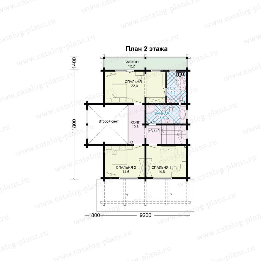 План 2-этажа проекта 13-73