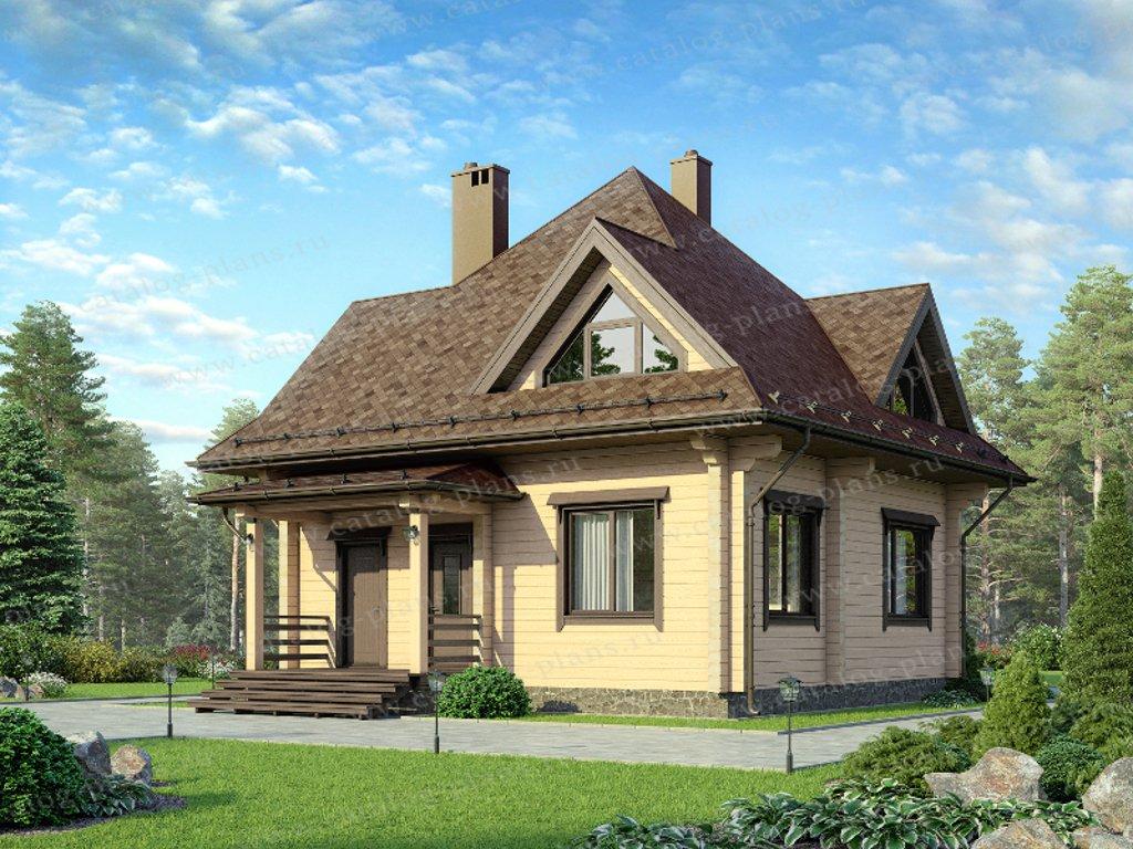 Проект жилой дом #13-72 материал - дерево, стиль