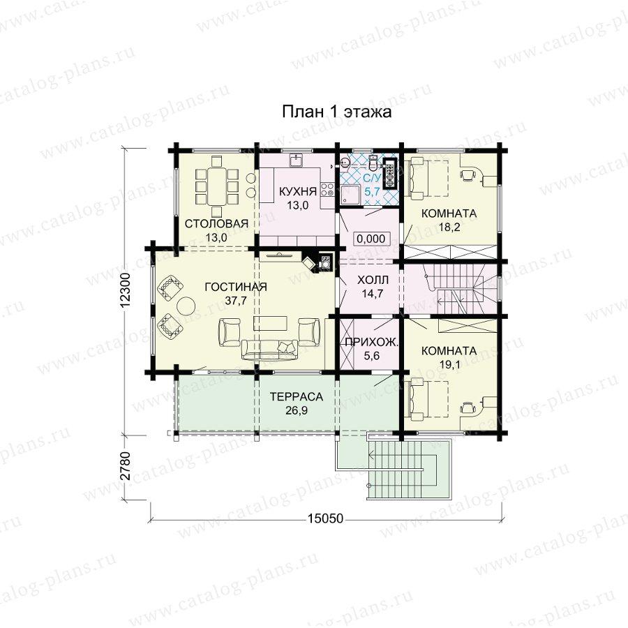 План 2-этажа проекта 13-70