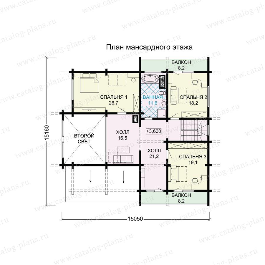 План 3-этажа проекта 13-70