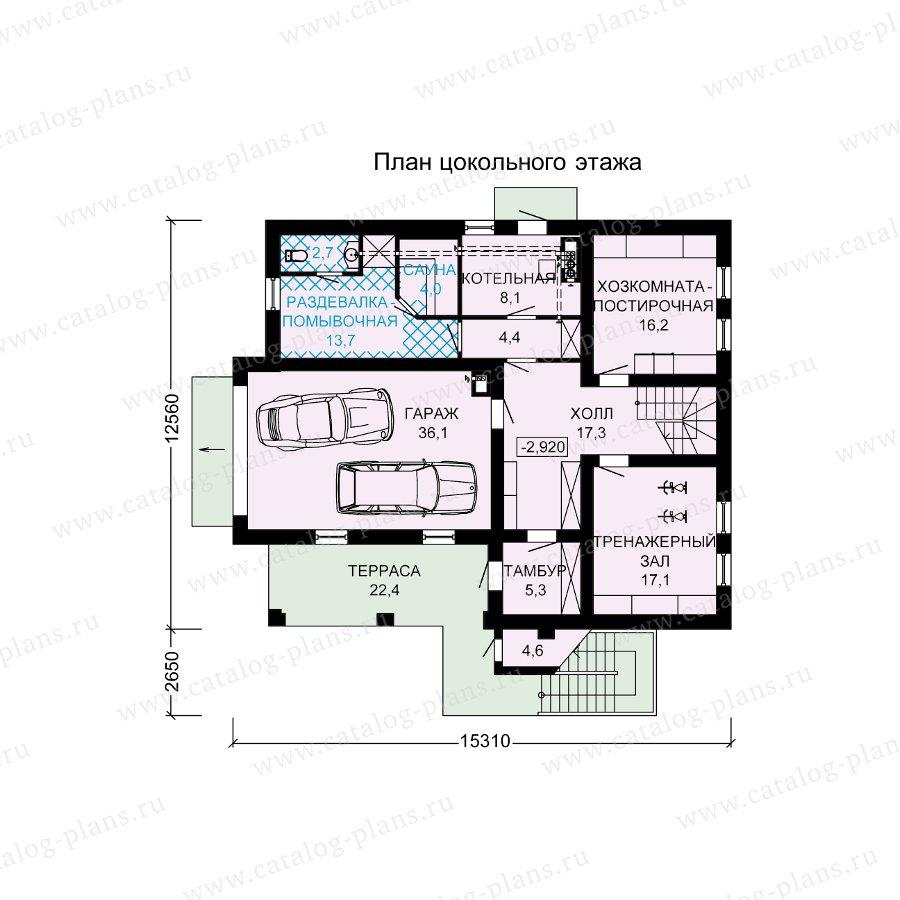 План 1-этажа проекта 13-70