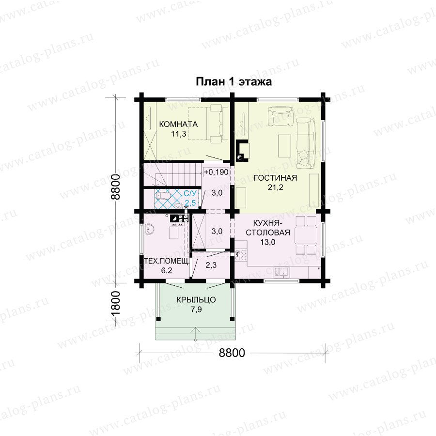 План 1-этажа проекта 13-72