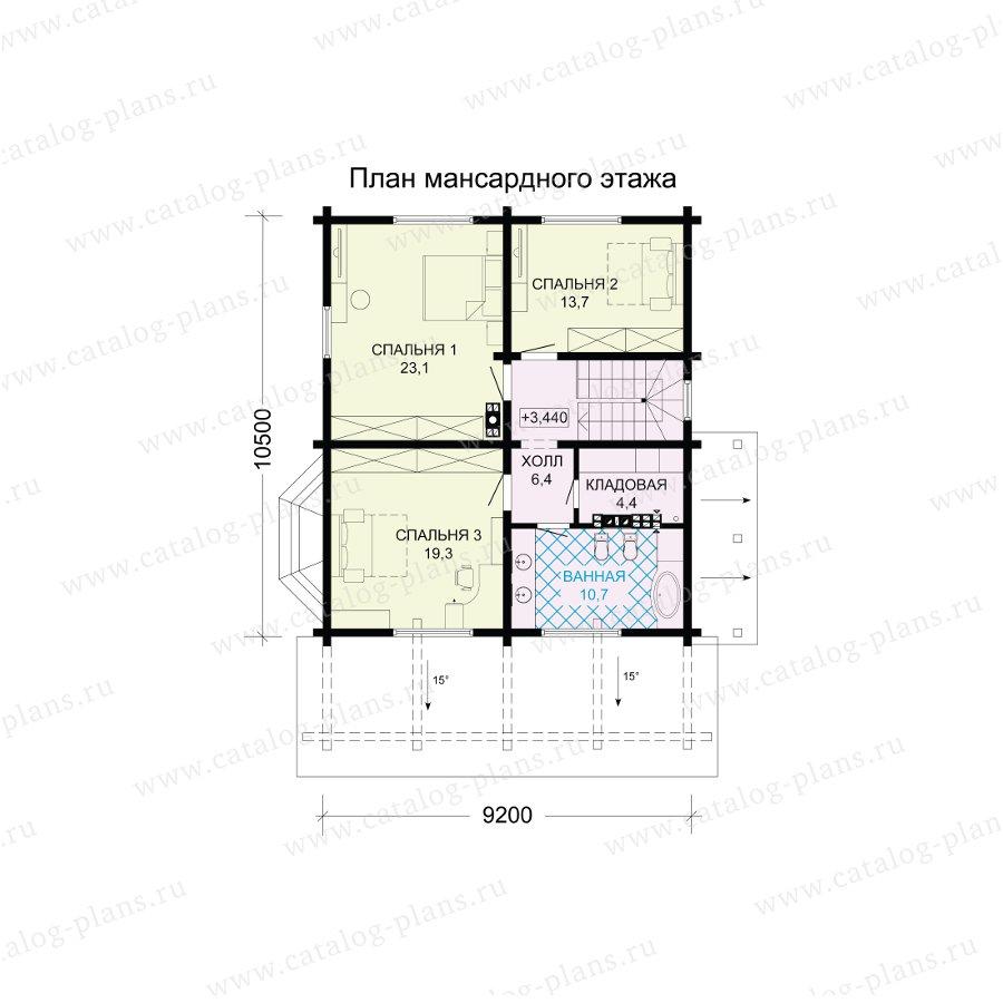 План 3-этажа проекта 13-71