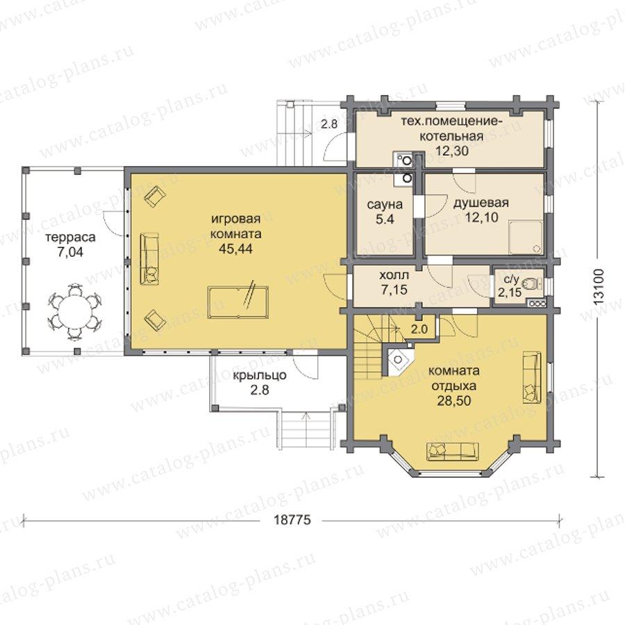 План 1-этажа проекта 13-68