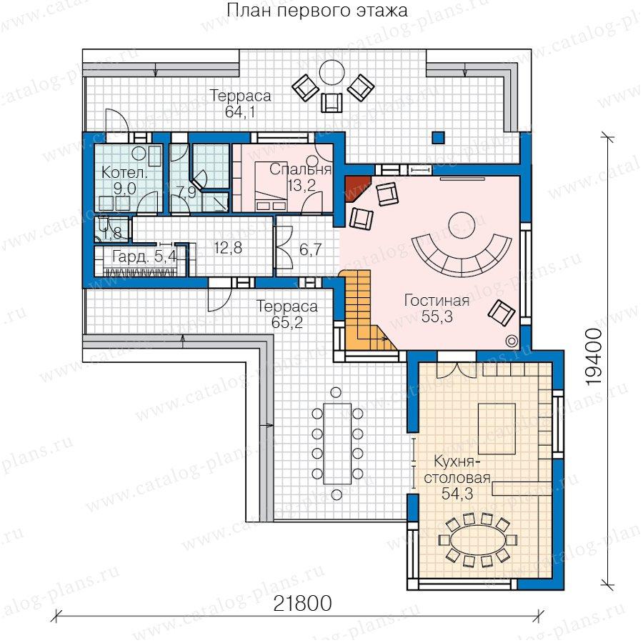 План 1-этажа проекта 40-84L