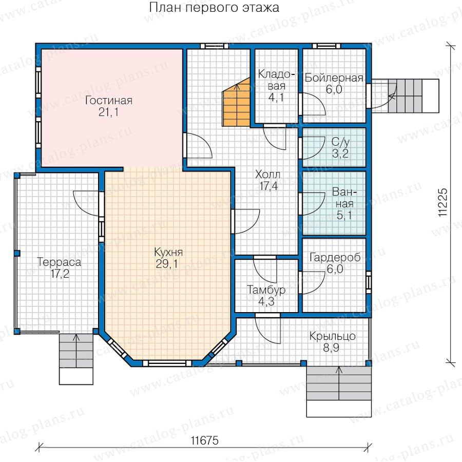 План 1-этажа проекта 70-86