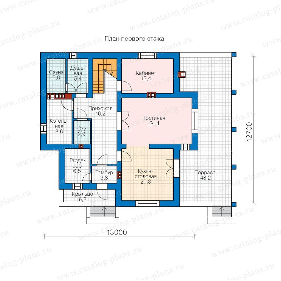 План 1-этажа проекта 57-49B