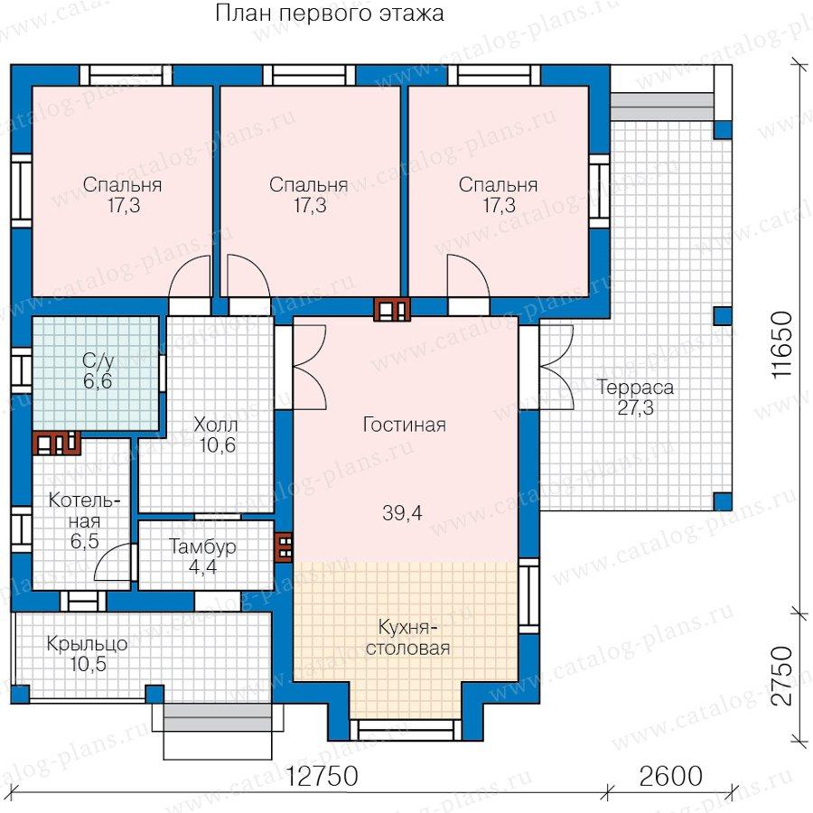 План 1-этажа проекта 62-05