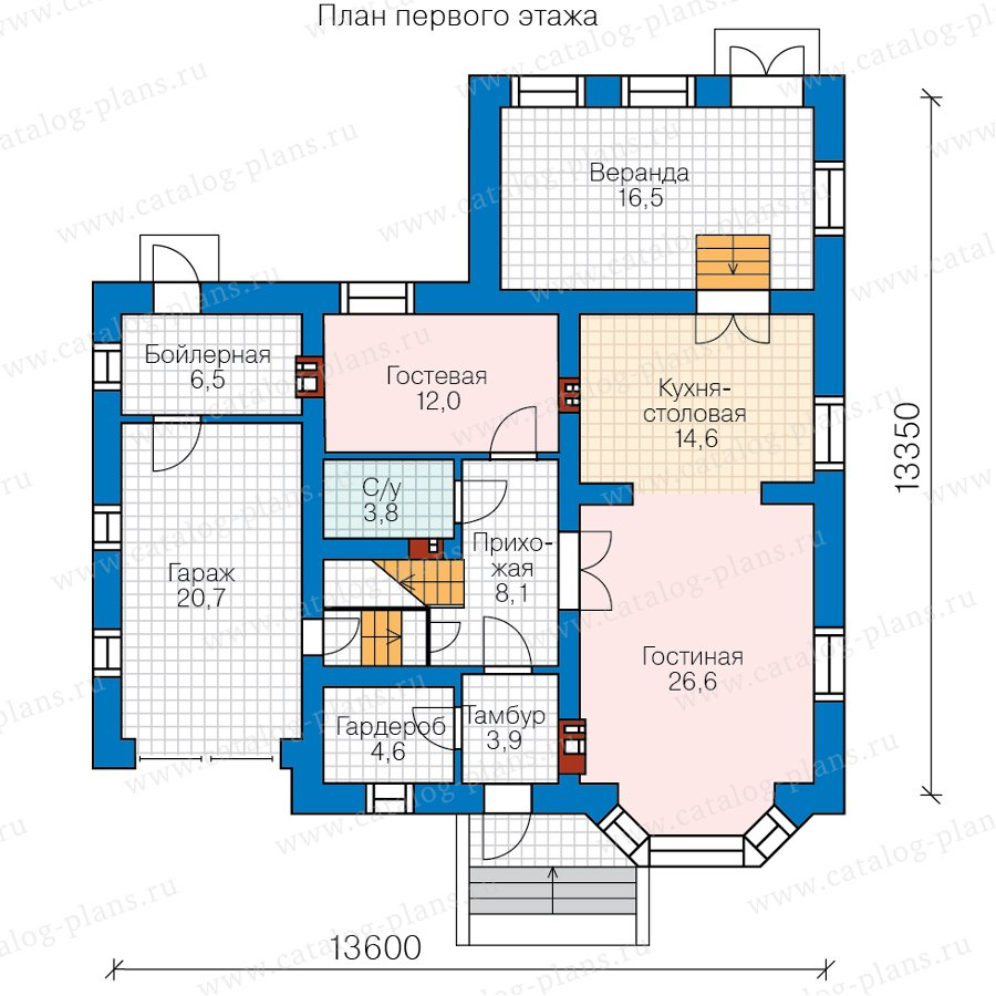 План 1-этажа проекта 57-52B