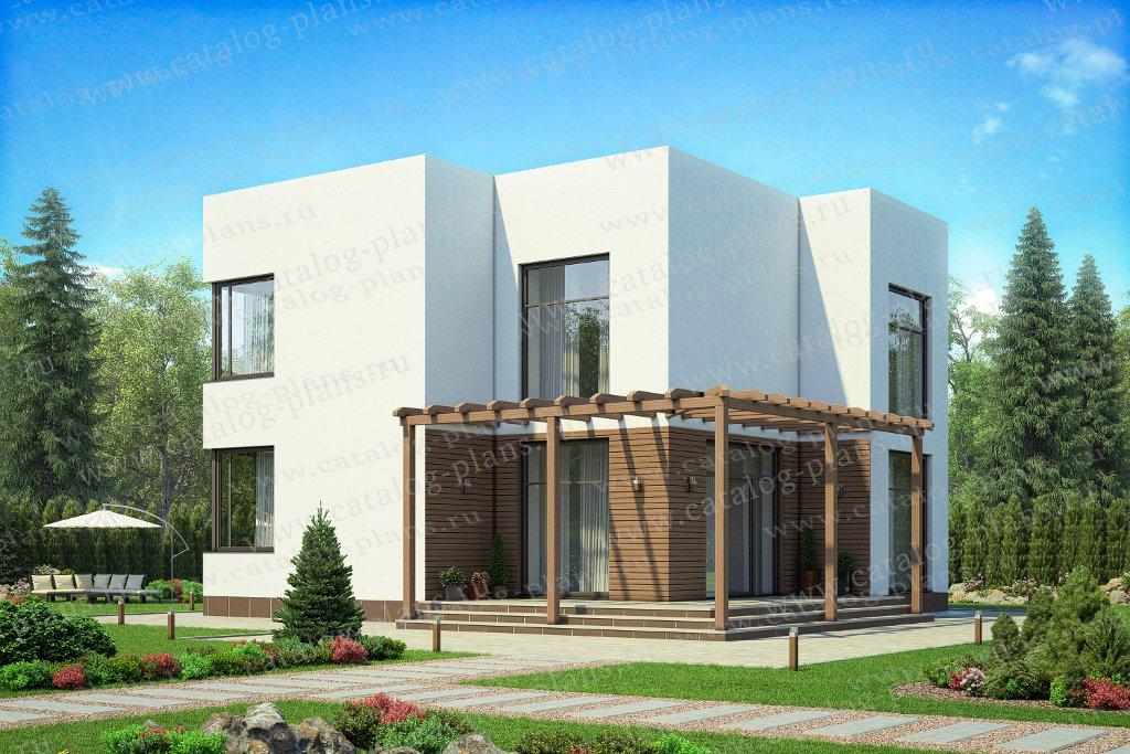 Проект жилой дом #62-08 материал - газобетон, стиль хай-тек