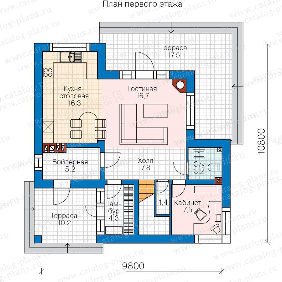 План 1-этажа проекта 62-08