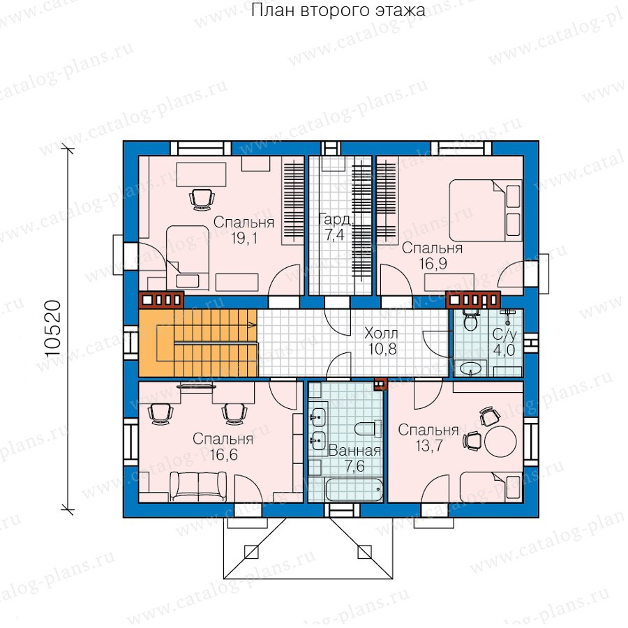 План 3-этажа проекта 57-30CK