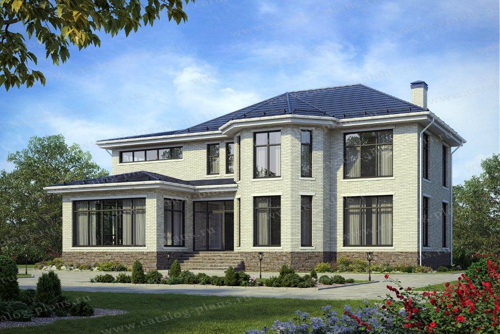 Проект жилой дом #57-25KHL материал - кирпич, стиль