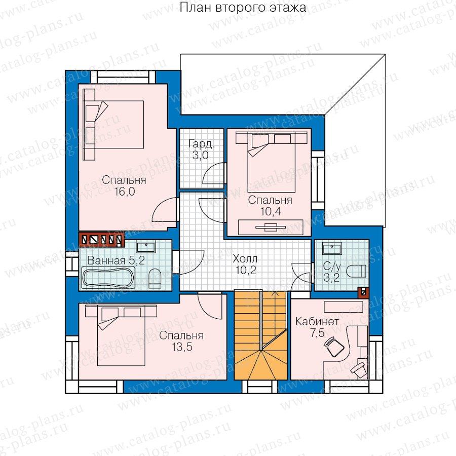 План 2-этажа проекта 62-08
