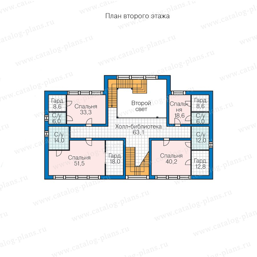 План 2-этажа проекта 47-69