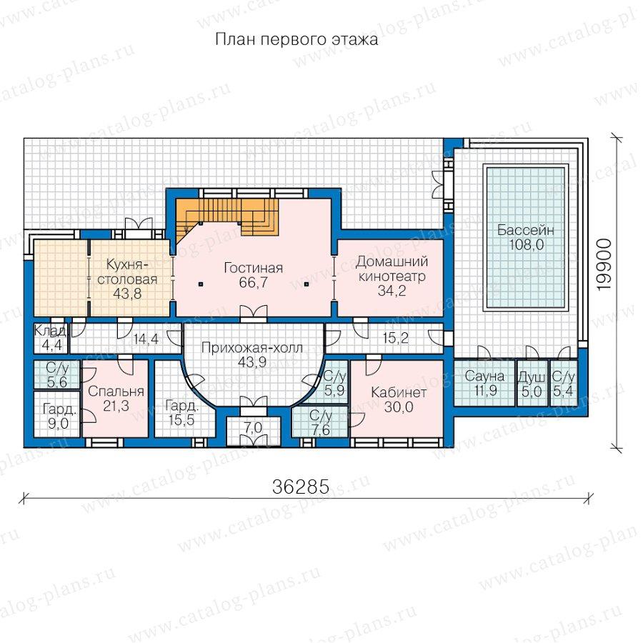 План 1-этажа проекта 47-69