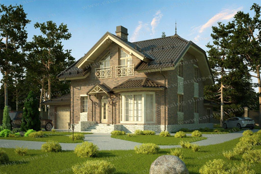 Проект жилой дом #57-52B материал - газобетон, стиль