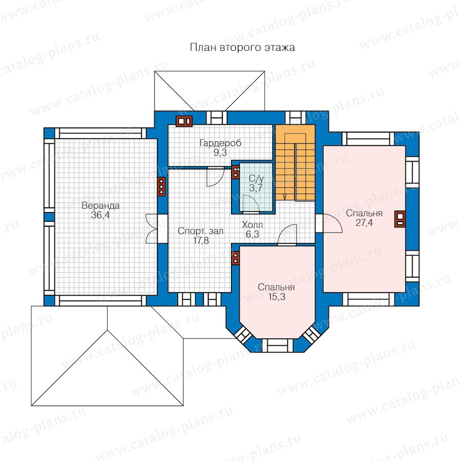 План 2-этажа проекта 57-25KDL