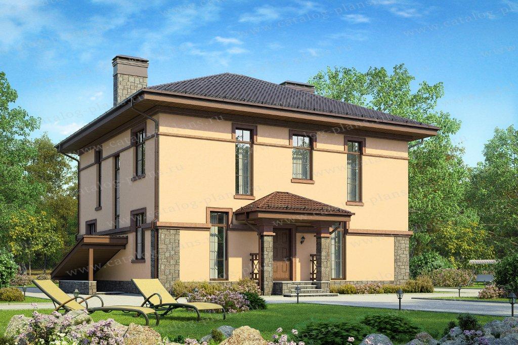 Проект жилой дом #57-30CK материал - кирпич, стиль