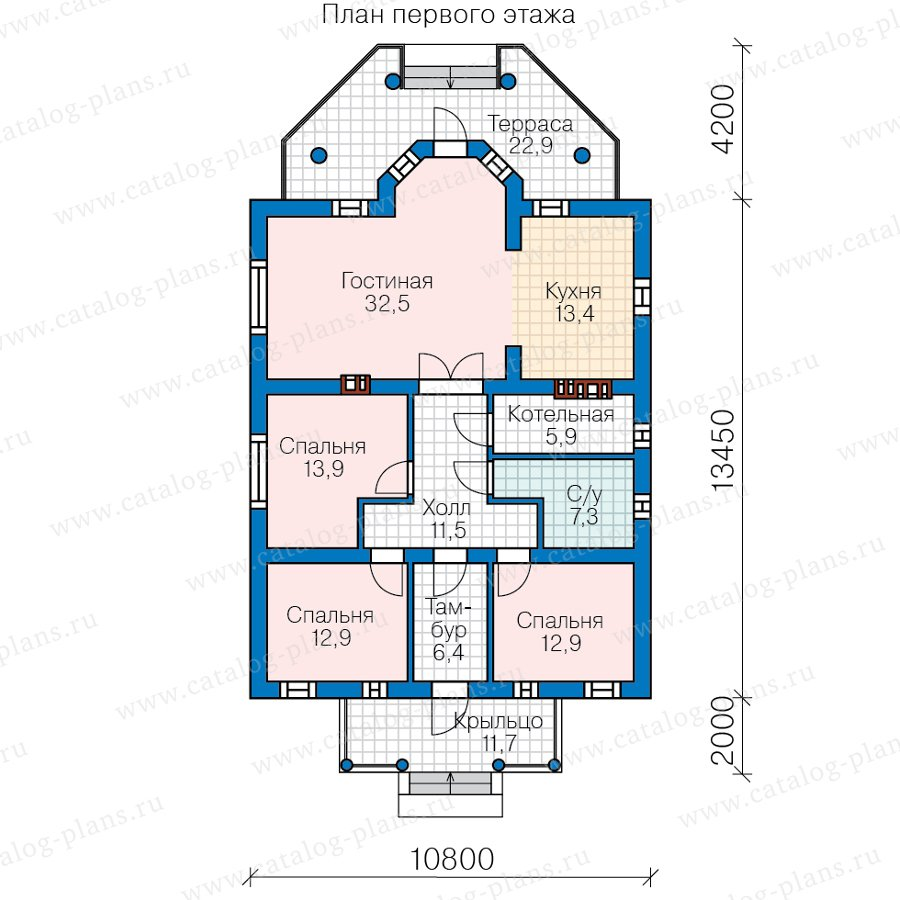 План 1-этажа проекта 62-04