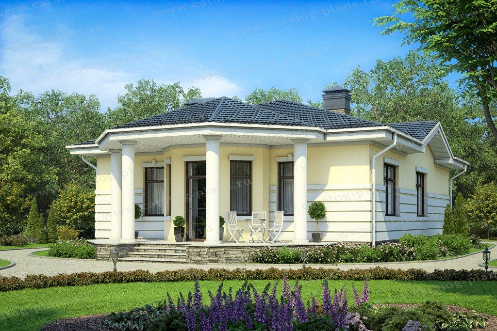 Проект жилой дом #62-04 материал - газобетон, стиль